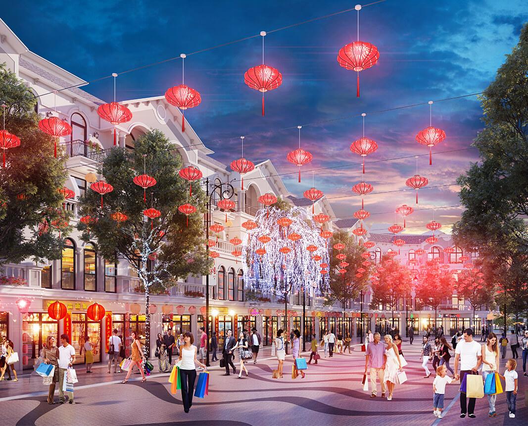 Phối cảnh Shophouse Shanghai Vinpearl Phú Quốc